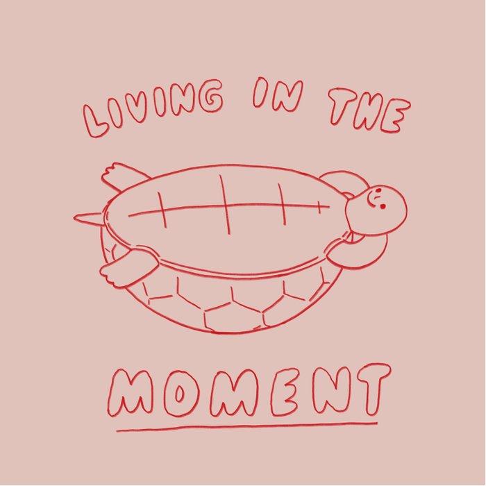 Living in the moment Duvet Cover