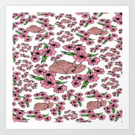 flor and fawn Art Print