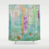 macaroon Shower Curtains featuring Mint Macaroon by Limezinnias Design