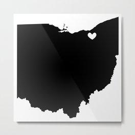 Cleveland, Ohio, Home Metal Print