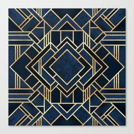 Art Deco Fancy Blue Canvas Print