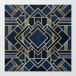 Art Deco Fancy Blue Canvas Print