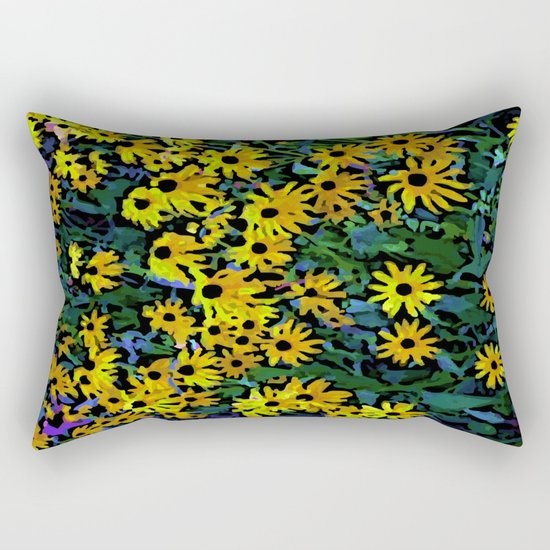 Black-Eyed Susans Rectangular Pillow