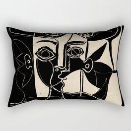 Picasso Woman's head #8 black line Rectangular Pillow