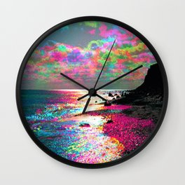 Trippy Serenity Ocean Wall Clock