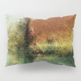 Focal Point Earth Tone Digital Painting Pillow Sham