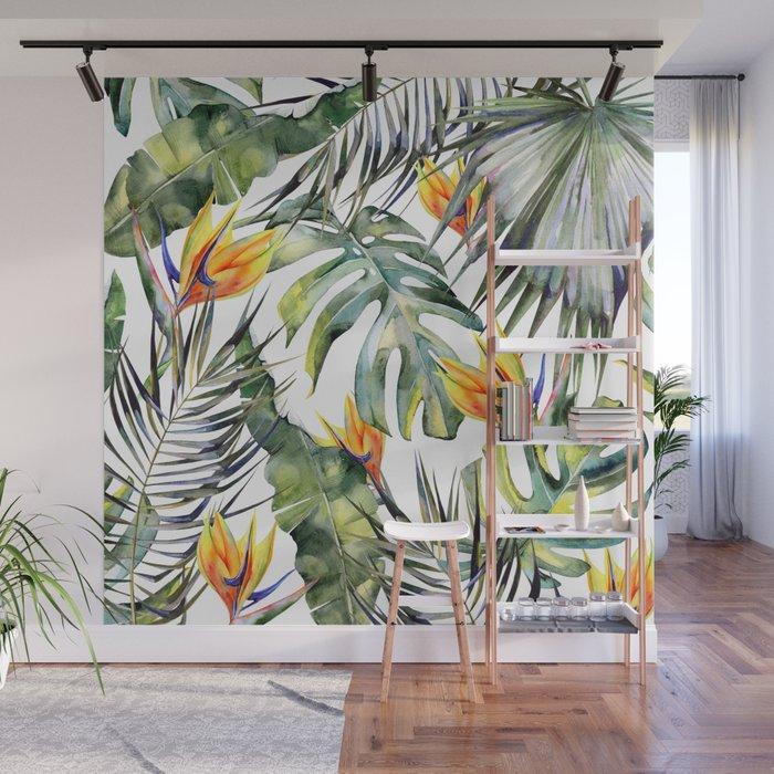 Tropical Garden Wall Mural By Magic Dreams