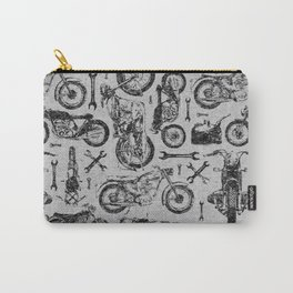 Vintage Motorcycle Pattern Carry-All Pouch