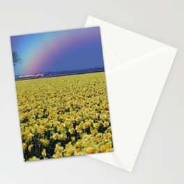Rainbow at Narcissus field Stationery Cards