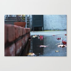 Brick and Leaves Canvas Print