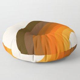 Retro Golden Rainbow - Left Side Floor Pillow