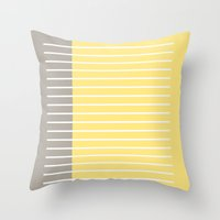 writing Throw Pillows featuring Writing Lines by In Sight