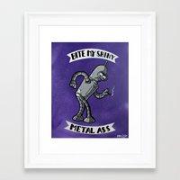 bender Framed Art Prints featuring Bender! by RISE Arts