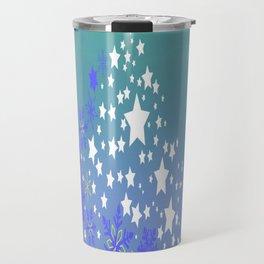 Blue Christmas Tree Travel Mug