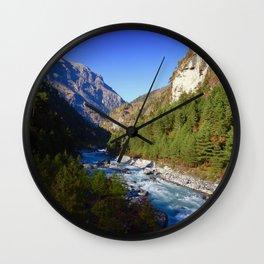Himalayan River Wall Clock