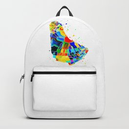 Barbados Map Backpack