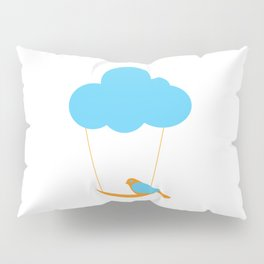 Cute bird and cloud Pillow Sham