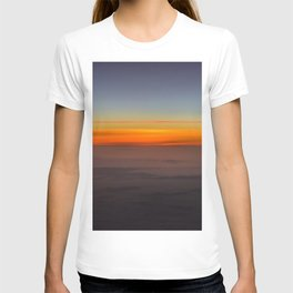 Sunrise over clouds T-shirt