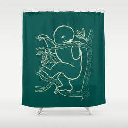 Seasons K Designs Sloth Shower Curtain