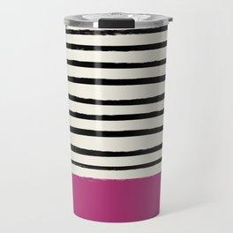 Raspberry x Stripes Travel Mug