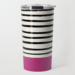 Raspberry x Stripes Travel Mug