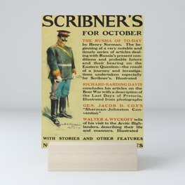 scribners for october. 1900  oude poster Mini Art Print