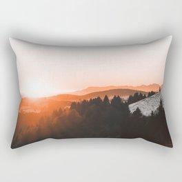 Warm Mountains Rectangular Pillow