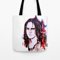 stucky Tote Bags featuring Reprogrammed.  by Sterekism