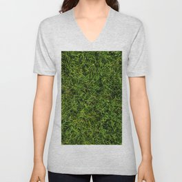 The Grass is Always Greener Right Here Unisex V-Neck