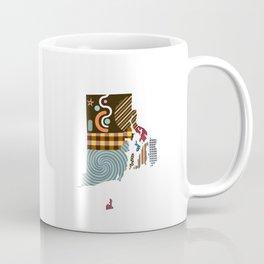 Rhode Island State Map Coffee Mug