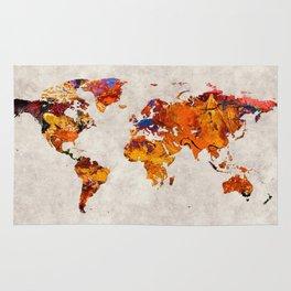 World Map 58 Rug