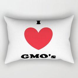 I Love GMO's Rectangular Pillow
