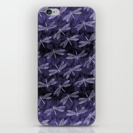 Purple Dragonfly Twighlight Dance iPhone Skin