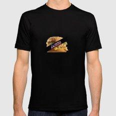 America Sensored:United States OF Burgerland Mens Fitted Tee Black MEDIUM