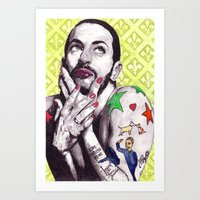 marc Art Prints featuring Marc Jacobs by Joseph Walrave