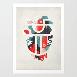 Grimace ! Art Print