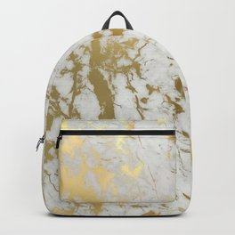 Gold marble Backpack