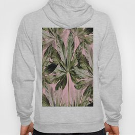 Large green leaves on a pink background - beautiful colors #society6 Hoody