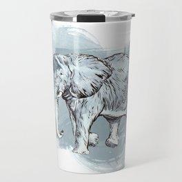 Watercolor Elephant Travel Mug