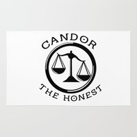 divergent Area & Throw Rugs featuring Divergent - Candor The Honest by Lunil
