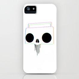 Boombox Skull (RGB) iPhone Case