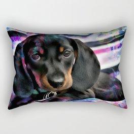 Dachshund Puppy Wiener Dog Art Rectangular Pillow