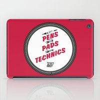 hiphop iPad Cases featuring HIPHOP ANTHEM : From Pens To Pads To Technics by Lbert