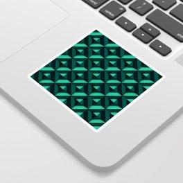 Concrete wall - Emerald green Sticker