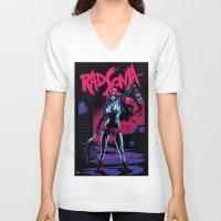 conan V-neck T-shirts featuring Rad Sonja by Kyle Harlan