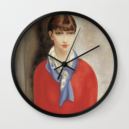 Vintage poster-Moïse Kisling- The girl in the red sweater. Wall Clock