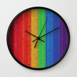 Colours Of The Rainbow Wall Clock