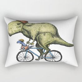 Dino Cycler Rectangular Pillow