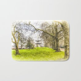 The Pagoda Battersea Park London Art Bath Mat
