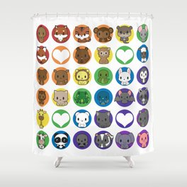 Collective Nouns 01 Shower Curtain